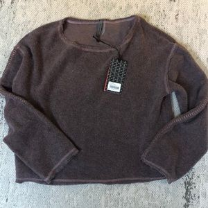 Vimmia Warmth Crop Pullover in Heather Thistle XS